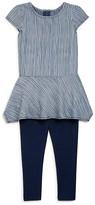 Splendid Girls' Striped Top & Leggings Set - Sizes 2-4