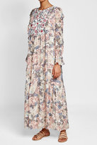 See by Chloe Printed Maxi Dress with Ruffles