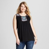 U-knit Women's Plus Size Embroidered Tank Top