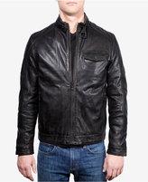 Emanuel Ungaro Leather Wind-Resistant Moto Jacket