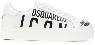 DSQUARED2 logo print lace-up sneakers