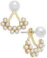 INC International Concepts Catherine Stein for Gold-Tone Imitation Pearl Earring Jackets, Only at Macy's