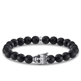 Thomas Sabo Unisex Sterling Silver Obsidian Bracelet - A1940-705-11-L16