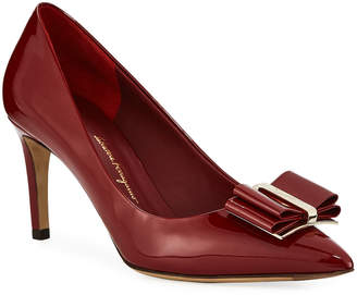 Salvatore Ferragamo Zeri Patent Leather Vara Bow Pumps