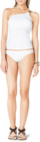 MICHAEL Michael Kors One-Shoulder Tankini Top with Hardware