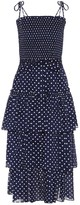 Tory Burch Polka-dot cotton midi dress