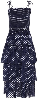 Tory Burch Polka-dot cotton midi dress