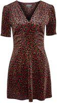 Topshop Bizzy Lizzy Velvet Tea Dress