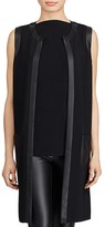 Lauren Ralph Lauren Faux Leather Trim Vest