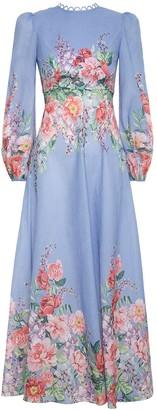 Zimmermann Bellitude Floral Long Dress