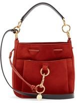 See by Chloe Tony Medium Suede Bucket Bag - Womens - Red