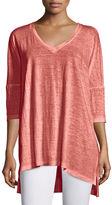 Eileen Fisher Dolman-Sleeve Boxy Organic Linen Tunic, Petite