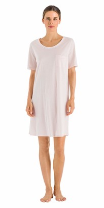 Hanro Women's Cotton Deluxe Nachthemd 1/2 Arm 90 cm Nightgown