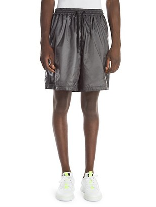 Marcelo Burlon County of Milan Metallic Multi-Logo Shorts
