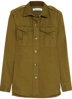 Etoile Isabel Marant Obrian Cotton-twill Shirt - Army green