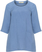 Isolde Roth Plus Size Pocket linen tunic