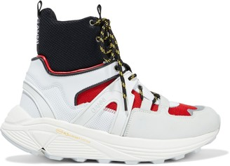 Ganni Shell, Mesh And Rubber High-top Sneakers