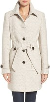 Gallery Belted Tweed Coat (Regular & Petite)