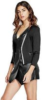 G by Guess GByGUESS Women's Esmee Side-Zip Blazer