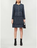 Ted Baker Boucle-print cotton-blend jacket