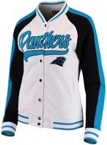 New Era Women's White/Black Carolina Panthers Varsity Full Snap Jacket