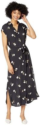 Billabong Little Flirt Dress (Black Floral) Women's Clothing