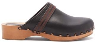 Isabel Marant Thalie Leather And Wood Clog Mules - Black