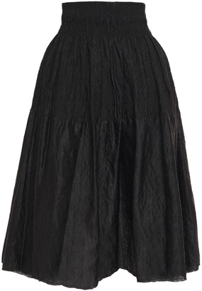 Marques Almeida Flared Gathered Brocade Skirt