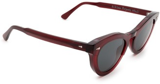 AHLEM Ile St Louis Burgundy Sunglasses