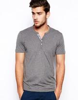 Selected Grandad T-Shirt In Pima Cotton