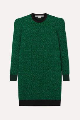 Stella McCartney Striped Wool-jacquard Dress - Green