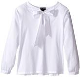 Oscar de la Renta Childrenswear - Cotton Bow Blouse Girl's Blouse