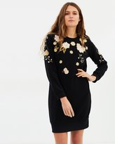 Whistles Embroidered Sweat Dress