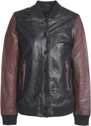 Muu Baa Muubaa Two-tone Leather Bomber Jacket