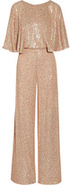 Temperley London Stardust Sequined Chiffon Jumpsuit - Pastel pink