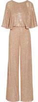 Temperley London Stardust Sequined Chiffon Jumpsuit - UK12