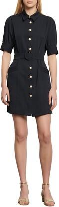 Sandro Joody Belted Short Sleeve Minidress