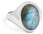 Shinola Sterling Silver & Labradorite Signet Ring