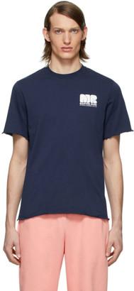 Martine Rose Navy Lettuce Hem T-Shirt