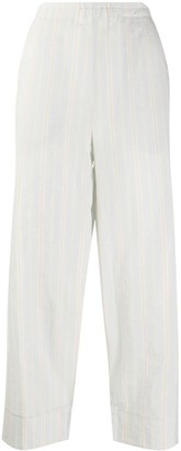 Barena Cotton Striped Cropped Trousers