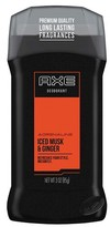 Axe Adrenaline Iced Musk and Ginger Deodorant Stick 3 oz