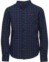 Ben Sherman Junior Boys Long Sleeve Shirt Clematis Blue
