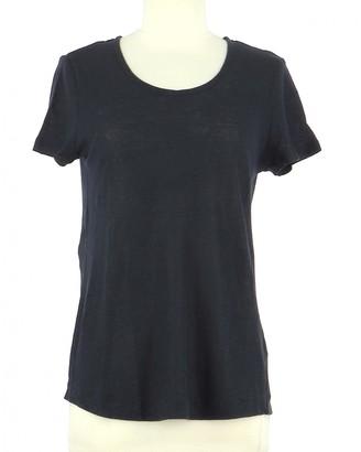 Gerard Darel Navy Linen Top for Women