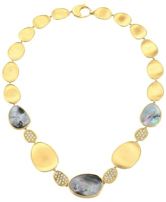 Marco Bicego Lunaria 18K Yellow Gold, Black Mother-Of-Pearl & Diamond Collar Necklace