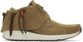 Visvim Brown Fbt Moccasin Sneakers