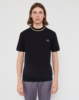 Fred Perry Crew Neck Pique T-Shirt Black