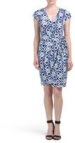 Cap Sleeve Printed Jersey Dress