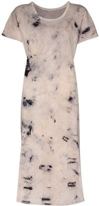MIMI PROBER tie-dye print T-shirt dress