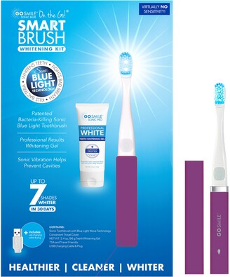 Go Smile On the Go Sonic Blue Smart Brush Whitening Kit