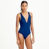 J.Crew Open-back one-piece swimsuit in Italian matte
